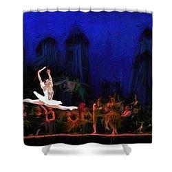 Prima Ballerina Shower Curtain by Louis Ferreira