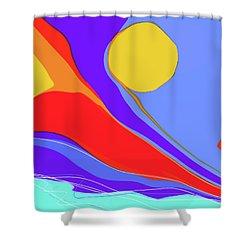 Primarily Shower Curtain