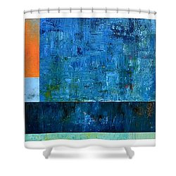 Shower Curtain featuring the painting Primary - Artprize 2017 by Michelle Calkins