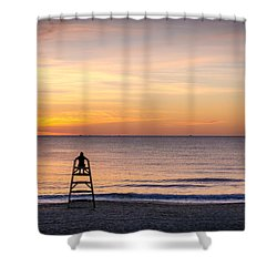 Prime Position. Shower Curtain