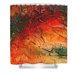 Primitive Abstract 1 By Rafi Talby Shower Curtain by Rafi Talby