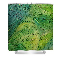 Primitive Abstract 2 By Rafi Talby Shower Curtain by Rafi Talby
