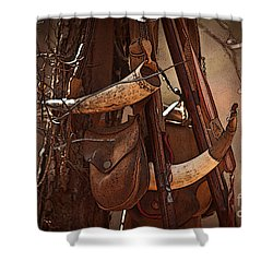 Primitive Arsenal Shower Curtain by Kim Henderson