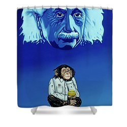 Shower Curtain featuring the painting Primitive Daydream by Paxton Mobley
