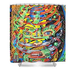 Primordial Inception Of Life At Daybreak Shower Curtain