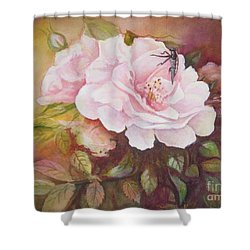 Shower Curtain featuring the painting Primrose by Patricia Schneider Mitchell