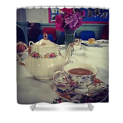 Primrose Vintage Tea Shower Curtain