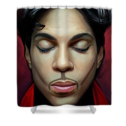 Shower Curtain featuring the painting Prince Artwork 2 by Sheraz A
