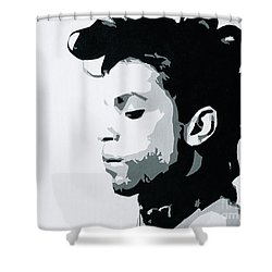 Shower Curtain featuring the painting Prince by Ashley Price