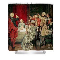 Prince Charles Edward Stuart In Edinburgh Shower Curtain by William Brassey Hole
