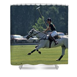 Prince Charles Playing Polo At Windsor Shower Curtain