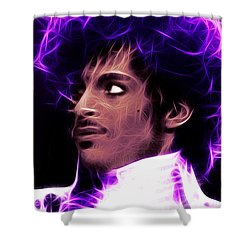 Shower Curtain featuring the digital art Prince - His Royal Badness by Stephen Younts