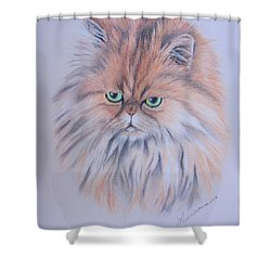 Shower Curtain featuring the pastel Prince by Laurianna Taylor