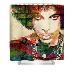 Prince Shower Curtain by Mihaela Pater
