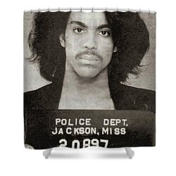 Prince Mug Shot Vertical Shower Curtain by Tony Rubino