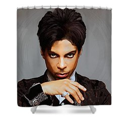 Prince Shower Curtain by Paul Tagliamonte