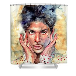 Prince Rogers Nelson Portrait Shower Curtain