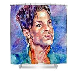 Prince Rogers Nelson Super Bowl 2007 Portrait Shower Curtain