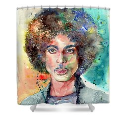 Prince Rogers Nelson Young Portrait Shower Curtain