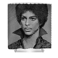 Prince - Tribute In Black And White Sketch Shower Curtain