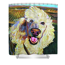 Princely Poodle Shower Curtain