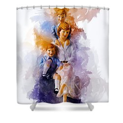 Princess Diana And Children Shower Curtain