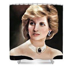 Shower Curtain featuring the digital art Princess Diana by Pennie  McCracken