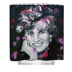 Shower Curtain featuring the painting Princess Diana by Richard Day