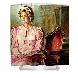Princess Diana The Peoples Princess Shower Curtain by Carole Spandau