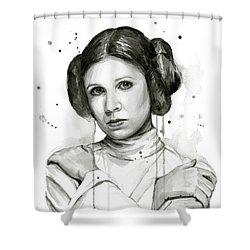 Princess Leia Portrait Carrie Fisher Art Shower Curtain