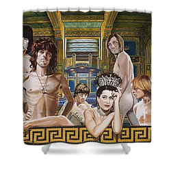 Princess Margaret Gets Stoned Shower Curtain by Jo King
