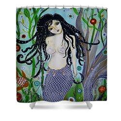Princess Mermaid Shower Curtain by Pristine Cartera Turkus