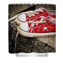 Princess Shoes Shower Curtain by Scott Pellegrin