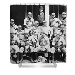 Princeton Baseball Team Shower Curtain by American School