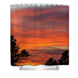 Princeton Junction Sunset Shower Curtain
