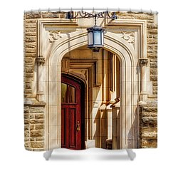 Shower Curtain featuring the photograph Princeton University 1901 Laughlin Hall by Susan Candelario