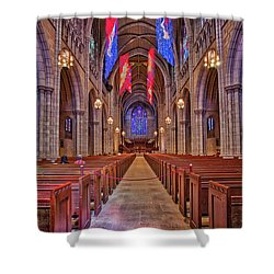 Shower Curtain featuring the photograph Princeton University Chapel by Susan Candelario