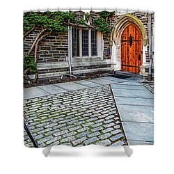 Shower Curtain featuring the photograph Princeton University Foulke Hall by Susan Candelario