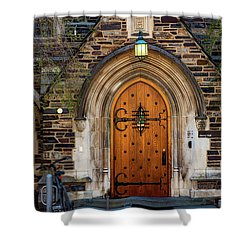 Shower Curtain featuring the photograph Princeton University Henry Hall by Susan Candelario