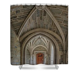 Shower Curtain featuring the photograph Princeton University Holder Hall Arches by Susan Candelario