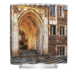 Shower Curtain featuring the photograph Princeton University Lockhart Hall Dorms by Susan Candelario