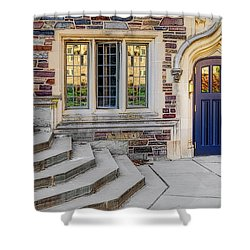 Shower Curtain featuring the photograph Princeton University Lockhart Hall by Susan Candelario
