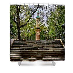 Shower Curtain featuring the photograph Princeton University Nassau Hall II by Susan Candelario