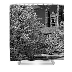 Shower Curtain featuring the photograph Princeton University Buyers Hall by Susan Candelario