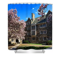 Princeton University Pyne Hall Courtyard Shower Curtain