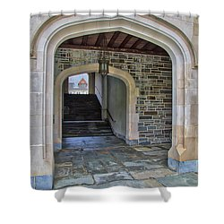 Shower Curtain featuring the photograph Princeton University Whitman College Arches by Susan Candelario