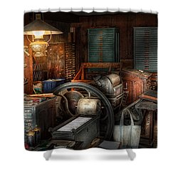 Printing - Stop The Presses  Shower Curtain by Mike Savad
