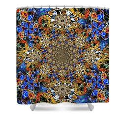 Prismatic Glasswork Shower Curtain
