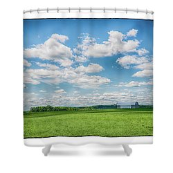 Prison Barn Shower Curtain by R Thomas Berner