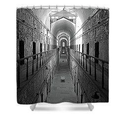 Prison Cell Hall Shower Curtain
